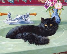 Black cat paintings. Persis Clayton Weirs