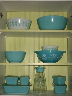 turquoise pyrex collection