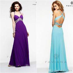2015 Custom Made Crystals Spaghetti Straps Purple Sky Blue Pink A Line Chiffon Prom Dresses Prom Dress Hire Prom Dress Long From Ladies_fashion, $101.47  Dhgate.Com