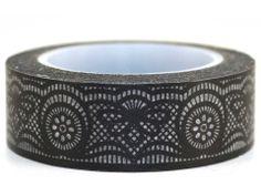 Black Lace – GetWashi.com - Washi tape that looks like black lace.  $1.97