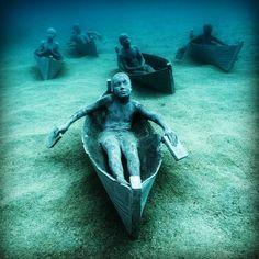 Lanzarote Underwater Museum in Spain - first underwater museum in Europe