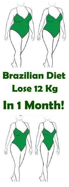 Brazilian Diet – Lose 12 Kg In 1 Month!#loseweight#diet#brazilian#plan
