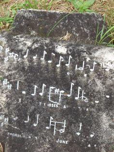 Music note tombstone, Brompton Cemetery London