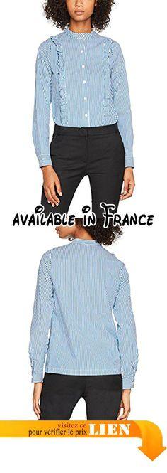 B0744VX1D5 : La Petite Française Charles Chemise Femme Bleu (Bleu) 38 (Taille Fabricant: 38).