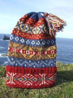 Fair Isle knitted cap