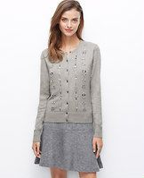 Embellished Ann Cardigan - Meet our instant wardrobe icon, the Ann Cardigan. Luxuriously tailored in a super soft blend, this indispensable favorite comes in an array of rich, refined colors and prints that are endlessly chic. Crew neck. Long sleeves. Button front. Ribbed neckline, placket, cuffs and hem.