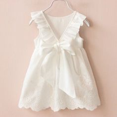 Princess Big Bow Girl Dress Children Clothing