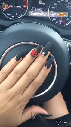 48 Matte Coffin Nails Designs For 2019 coffin nails matte Coffin Nails Matte, Best Acrylic Nails, Acrylic Nail Designs, Gel Nails, Mexican Nails, Rose Nail Design, Rose Nails, Disney Nails, Nagel Gel