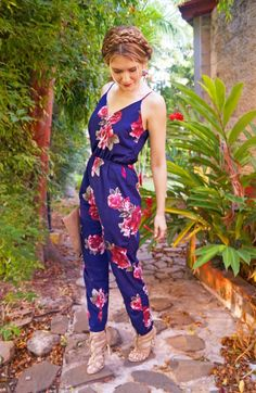 Floral Jumpsuit Outfit for Spring