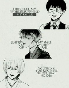 I treat Tokyo Ghoul as true tragedy, it's different than other anime.No idea. I treat Tokyo Ghoul as true tragedy, it's different than other anime. Sad Anime Quotes, Manga Quotes, Mood Quotes, True Quotes, Meaningful Quotes, Inspirational Quotes, Tokyo Ghoul Quotes, Anime Triste, Tokyo Ghoul Manga