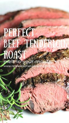 Perfect Beef Tenderloin Roast (horseradish sauce recipe included) is a great holiday or special occasion recipe featuring beef tenderloin. Make this roast for Christmas, New Year's Day, or any holiday! Melt in your mouth tender and flavorful beef roast.
