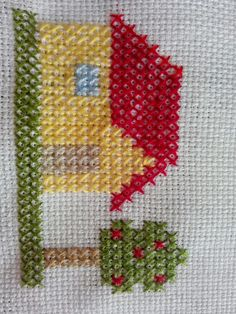 Latest Trend In Embroidery on Paper Ideas. Phenomenal Embroidery on Paper Ideas. Cross Stitch House, Mini Cross Stitch, Cross Stitch Borders, Cross Stitch Flowers, Cross Stitch Designs, Cross Stitching, Cross Stitch Patterns, Paper Embroidery, Learn Embroidery