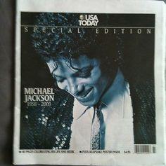 Michael Jackson USA Today Special Edition Magazine From USA Rare - http://www.michael-jackson-memorabilia.co.uk/?p=2778