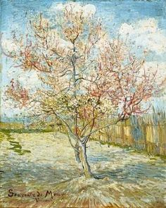 Peach Trees in Blossom.  Vincent van Gogh