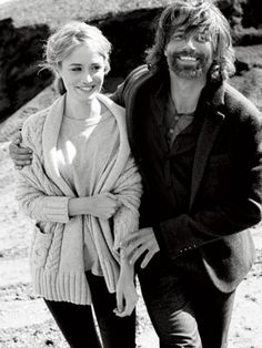 Anson Mount and Dominique McElligot of Hell on Wheels in 2011 Esquire Magazine photo shoot