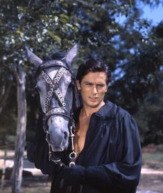 Alain Delon During The Shooting Of The Movie 'La Tulipe Noire'