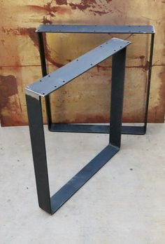 Price is for set of 2 Material: Flat bar Top Plate: Flat bar with holes Finish Options -Raw (No Paint as shown in the Wood Table Legs, Steel Table Legs, Coffee Table Legs, Diy Dining Room Table, Office Furniture Design, Table Shelves, Iron Table, Steel Furniture, Home Decor
