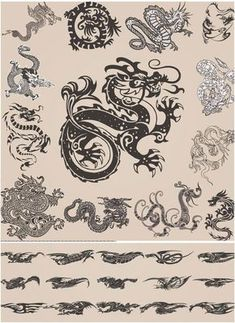 I was born in the coveted year of the dragon ❤️ I want to get a small tattoo or just henna the traditional Chinese illustration