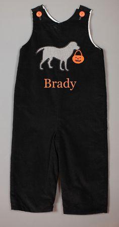 Black Corduroy Halloween Puppy Longalll  www.facebook.com/Southerntots