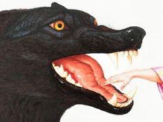 Close-up of Walton Ford illustration