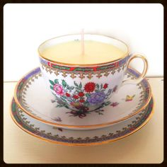 Hearts and Home - home accessories & gifts for all occasions, wedding and event hire. Teacup Candles, Vintage China, Wedding Bridesmaids, Scented Candles, Home Accessories, Personalized Gifts, Tea Cups, Vanilla, Hand Painted
