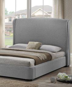 Gray Modern Sheila Bed Set by Baxton Studio #zulily #zulilyfinds