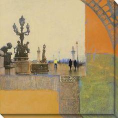 Impressions of Paris II Canvas Wall Art