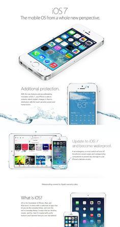 """Eine Werbeanzeige verspricht sinngemäß: Mit dem Update auf iOS 7 wird das eigene iPhone wasserdicht.  Manchmal weiß man gar nicht, in welches Album bestimmte Beiträge gehören. Denn ein Album """"Dummheiten"""" habe ich bisher in Pinterest nicht angelegt. :-)"""