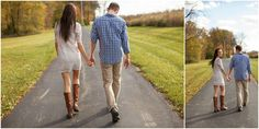 A great fall engagement session by @lindsayphotog