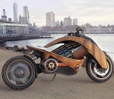 Venturing even further into the future, French motorcycle company, Newron Motors has pushed the envelope of sustainability to heights never seen before. Unveiling its latest electric machine, the Cleveland Cyclewerks, Wood Bike, Motorcycle Companies, Bike News, Cool Motorcycles, Concept Motorcycles, Motorcycle Design, Urban, Real Wood