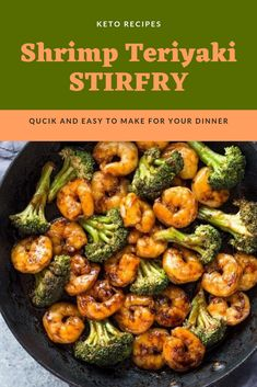 Quick 10 Minute Shrimp Teriyaki Stir-Fry Recipes Easy and Quick 10 Minute Shrimp Teriyaki Stir-Fry Recipes for your Dinner Healthy Stir Fry Sauce, Homemade Stir Fry Sauce, Keto Stir Fry, Stir Fry Recipes, Wok Recipes, Quick Recipes, Shrimp Stir Fry Easy, Shrimp Broccoli Stir Fry, Shrimp And Vegetables