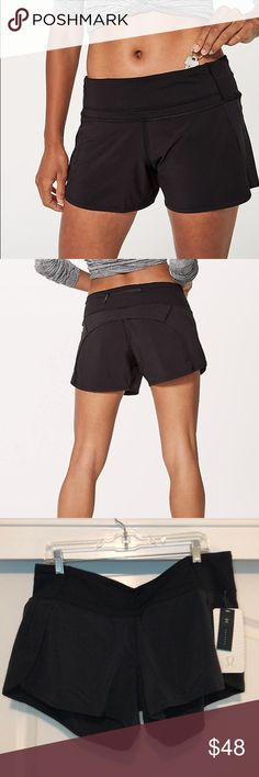 lululemon Run Times Short NWT never tried on 4 in inseam Swift Ultra fabric Three pocket waistband Relaxed sensation Medium rise lululemon athletica Shorts