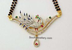 black beads mangalsutra chain