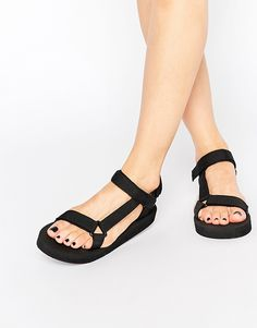 Image 1 ofTruffle Collection Strap Flat Sandals