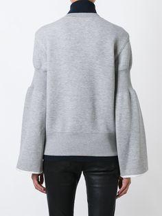 Sacai flared sleeve sweatshirt