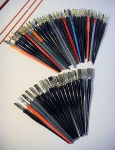 "Vintage Calligraphy Pens & Nibs-Lot of 45 ""Speedball"" Steelbrush. $36.00, via Etsy."