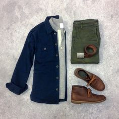 Love this color combination Overshirt/Wool Henle Cool Outfits, Casual Outfits, Fashion Outfits, Daily Fashion, Mens Fashion, Fashion Menswear, Casual Wear, Men Casual, Style Masculin