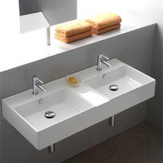 double wall-mounted sink