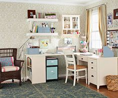 The available space for my craft room is shrinking.  This corner setup would work.