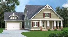 House Plan 72681   Cottage Country Craftsman Plan with 3085 Sq. Ft., 3 Bedrooms, 3 Bathrooms, 2 Car Garage