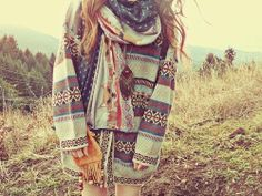 .shepherd, netherlands, mexican blanket poncho villa kinda feel--parka, burks, tribal, patterns, hiking, the great outdoors, hippie comfort--draped scarves make look stylish