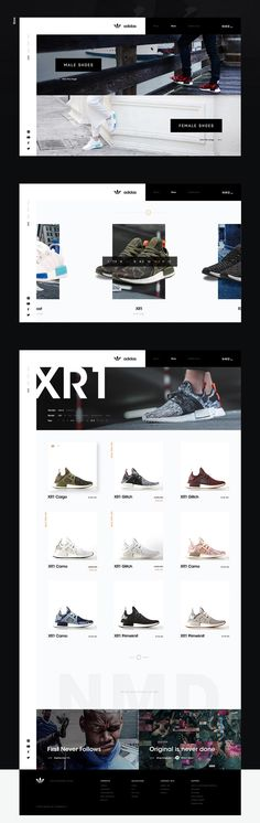 Adidas Website Concept - Behance #ui #ux #userexperience #website #webdesign #design