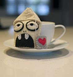 Zombie Teabag felt amazingness.  By Shevon on Etsy. Oh how I love Etsy and strange little creative people like me.