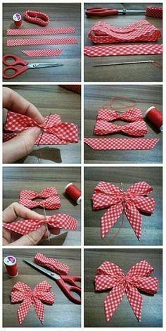 Making Hair Bows, Diy Hair Bows, Diy Bow, Diy Ribbon, Ribbon Crafts, Ribbon Bows, Ribbons, Bow From Ribbon, Wreath Bows