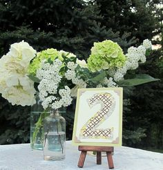 Wedding Table Number Tiny Art W Easel By Joblake Unique Numbers