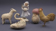 german cotton christmas ornament | Antique Christmas ornaments, vintage Christmas ornaments, candy ...