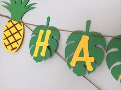 X-long Personalized Luau Pineapple party banner on Etsy, $18.00