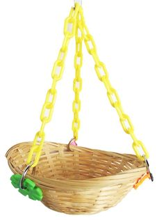 """1914 Basket Swing. - Bonka Bird Toys use code """"orderbonka"""" and receive 10% off your first toy order"""