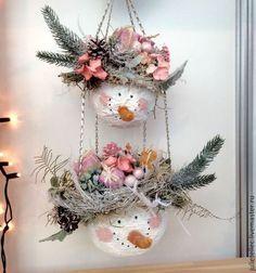 Новый год 2016 ручной работы. Ярмарка Мастеров - ручная работа. Купить Снеговики Эльс. Handmade. Бледно-розовый, снеговики