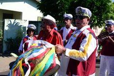 Congada Marinheiros de Franca no 14° Eoncontro de Congada, em maio de 2015, no Bairro de Santa Ifigênia, em Olímpia (SP).